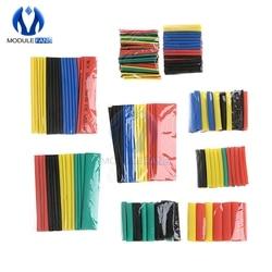 Набор пластиковых кабелей для автомобиля, 140/164/328/530 шт., термоусадочная трубка, трубчатая обмотка, 8 размеров, разные цвета