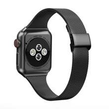 Ремешок «Миланская петля» для apple watch band 44 мм 40 тонкий
