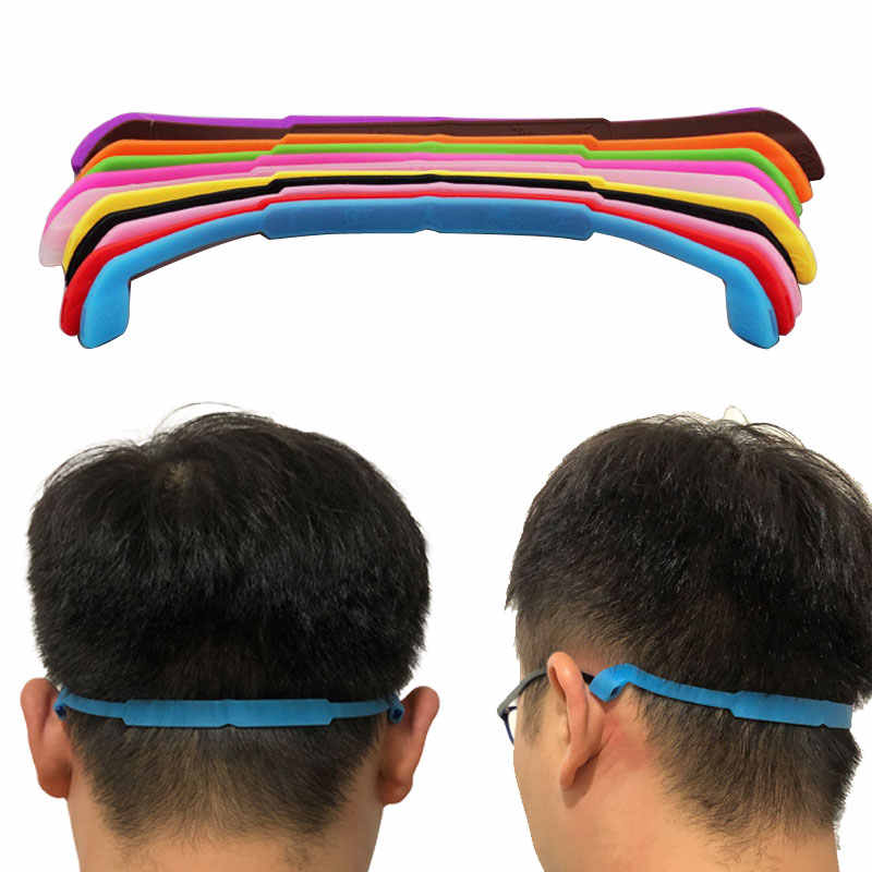 Cordão de cabo elástico antiderrapante, suporte de silicone para cabo de esportes, cordão de pescoço, acessórios de corda