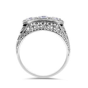 Image 3 - Szjinao יהלומי טבעות נשים זירקון 3 יקרה אבן Massif חן טבעת לנשים לגלף חתונה אמיתי כסף 925 תכשיטים