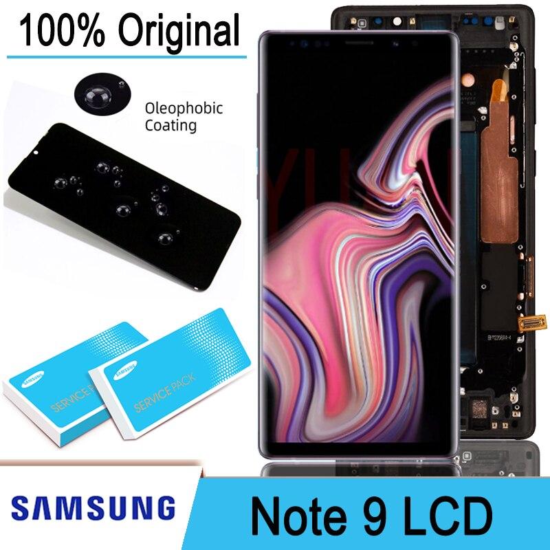 Оригинальный ЖК-дисплей 6,4 дюйма AMOLED + дигитайзер сенсорного экрана в сборе для Samsung Galaxy Note 9 Note9 N960D N960F запасные части