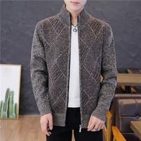 Мужской свитер мужской жакет однотонные свитеры трикотаж теплый свитер кардиганы мужская одежда