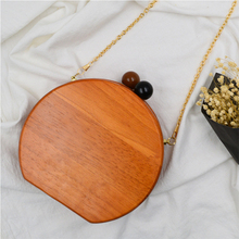 Fashion Wood Double Bead Bag Women Shoulder Bags Small Chain Dinner Bag Ladies Crossbody Messenger  Bags Women Phone Purses New стоимость