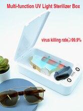 Sanitizer Masks Ultraviolet Sterilizer Box Uvc Light Portable Automatic Disinfection Box with Aromatherapy Blacklight