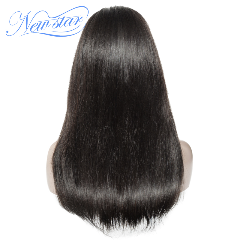 New Star Straight 4x4 Closure 250% Lace Wig Brazilian Bundles And Closure Wig Customized Virgin Human Hair Wig For Black Women
