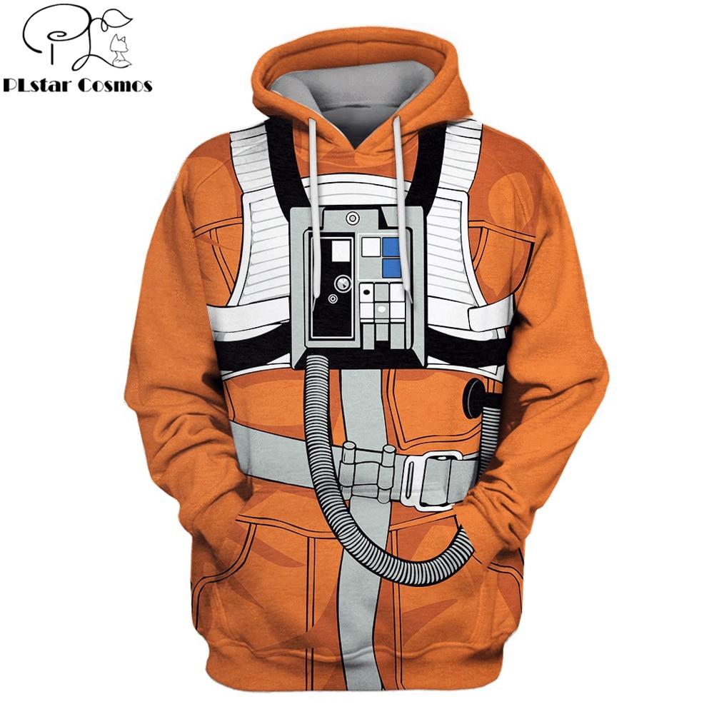 PLstar Cosmos Pilot Apparel 3D Full Print Hoodie Astronaut Cosplay Costume Unisex Sweatshirt Casual Streetwear Sudadera Hombre
