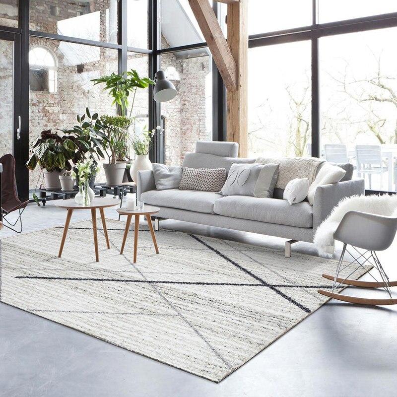 Tapis de salon marocain nordique épais tapis de maison pour chambre canapé moderne Table basse tapis de sol étude tapis de bureau et tapis