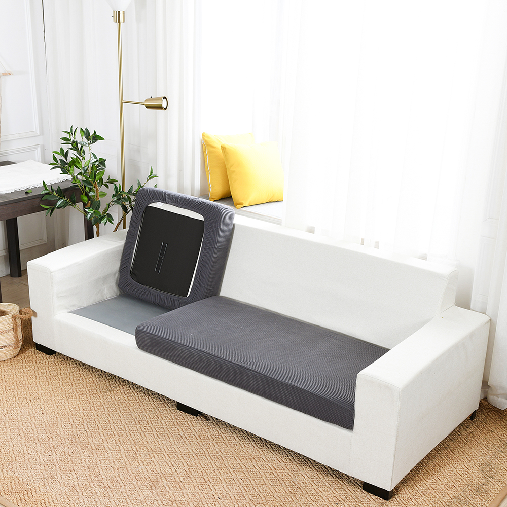 Home Decoration Sofa Seat Cushion Cover,Pets Kids Furniture Protector,Polar Fleece Stretch,Washable