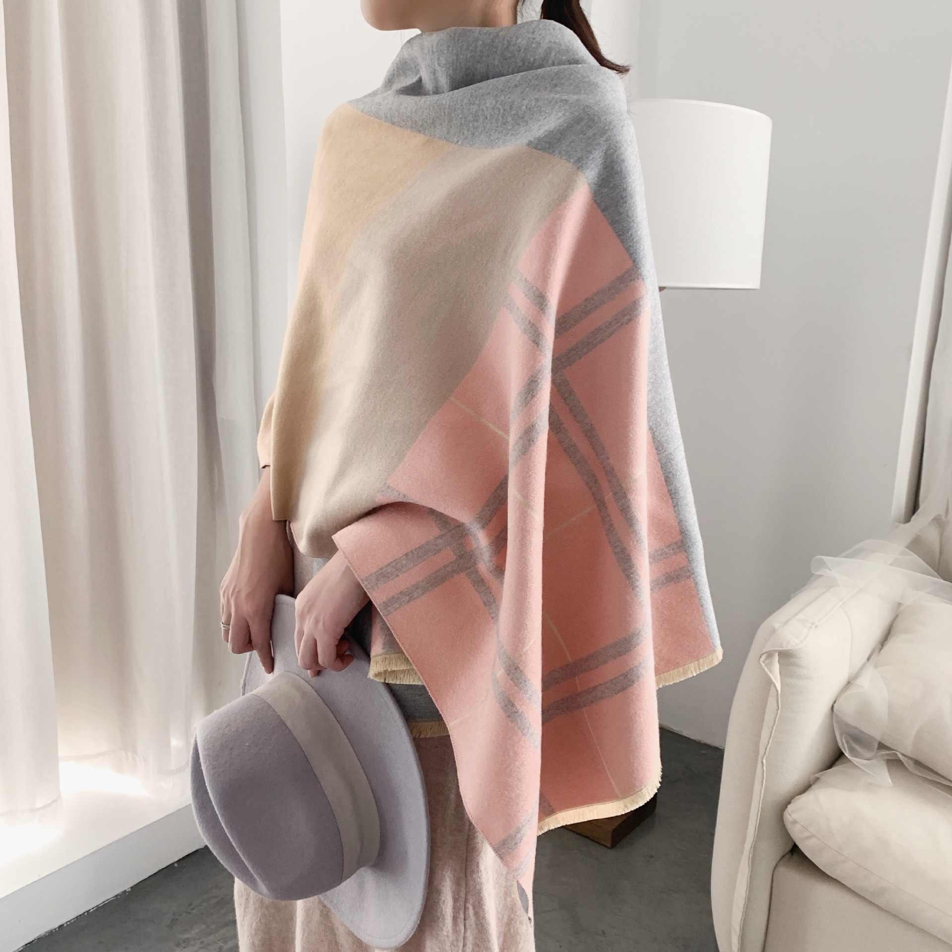 Palid Lenços Das Mulheres 2019 Novo Grossas de Inverno Quente do Envoltório Do Xaile Do Lenço da Caxemira de Alta Qualidade Manta Pashmina Lenços No Pescoço Echarpe Femme