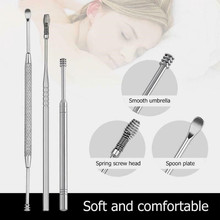 Hot 7pcs/set Ear Wax Pickers Stainless Steel Earpick Wax Remover Curette Ear Pick Cleaner Ear Cleaner Spoon Care Ear Clean Tool a975 portable electric ear cleaner set white 2 x aa