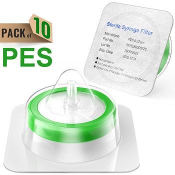 Sterylna strzykawka filtry PES membrana 0 22μm rozmiar porów o średnicy 33mm 10 sztuk indywidualnie pakowane przez Ks-Tek tanie i dobre opinie Lejek syringe filters sterile