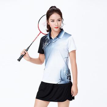 Nowy badmintona koszule kobiety mężczyźni sportowa koszula tenis koszule koszulka do tenisa stołowego na świeżym powietrzu panie t-shirt do biegania odzież sportowa tanie i dobre opinie HAMEK Poliester WOMEN Krótki Anty-pilling Anti-shrink Przeciwzmarszczkowy Oddychające Szybkie suche Pasuje prawda na wymiar weź swój normalny rozmiar