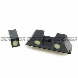 Image 4 - Hunting Pistol Handgun Glow in the Dark Night Sights Front and Rear Sight Set For Glock 17, 19, 22, 23, 24, 27, 33, 34, 35