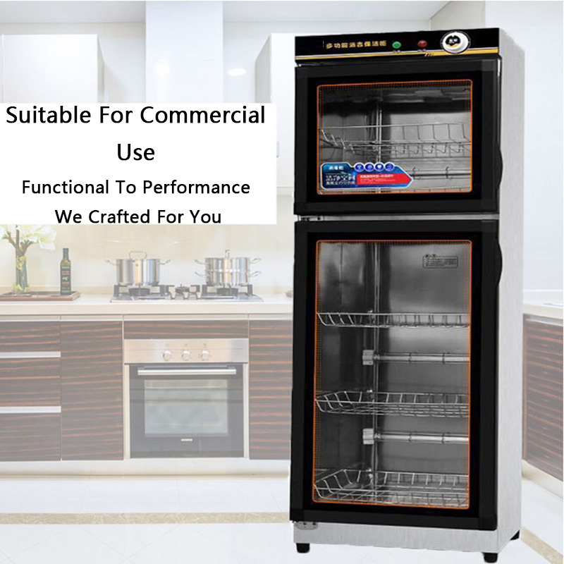 Disinfection Cabinet Commercial Tableware Vertical Ozone Double Door Restaurant Restaurant School Canteen Stainless Kitchen