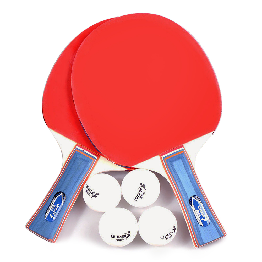 Table Tennis 2 Player Set 2 Table Tennis Bats Rackets With 4 Ping Pong Balls For School Home