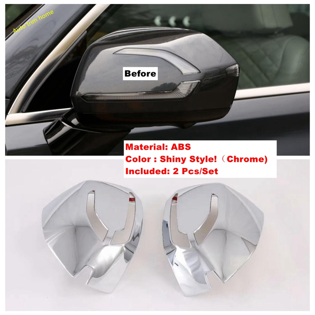 Accessories Exterior Refit Kit Side Door Rearview Mirror Decoration Housing Frame Cover Trim Fit For Hyundai Palisade 2020 2021 2