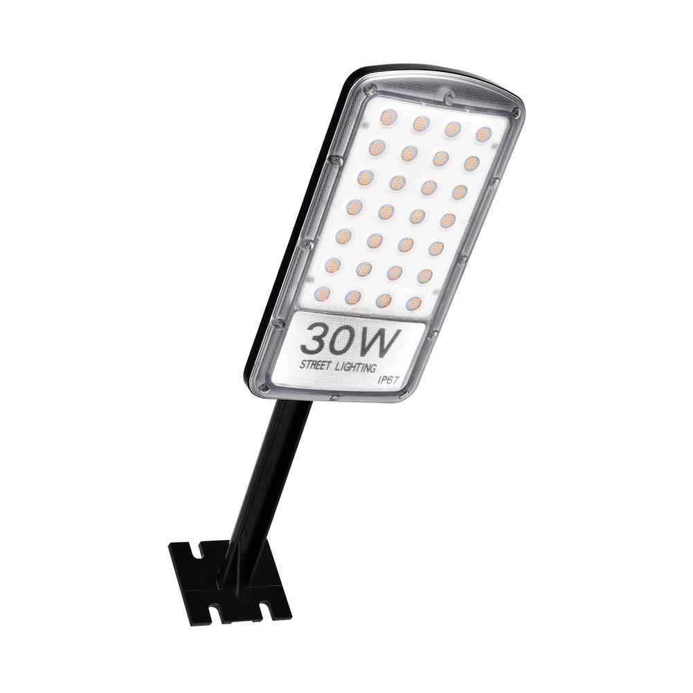 2PCS/Lot Aluminum 30W LED Street Light Lamp Outdoor Road Lighting Flood Light Garden Spot Lamp AC 220V Warm White