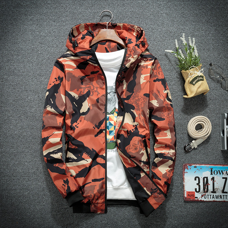 Male Windbreaker Men Clothing Jackets Clothes For Men Streetwear Autumn Winter Jackets Men Camouflage Hooded Coats Casual Zipper