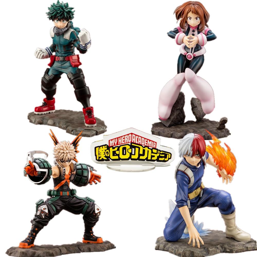 My Hero Academia Bakugou Izuku Todoroki Shoto URARAKA ARTFXJ PVC Action Figure Toys Boku No Hero Academia Anime Figurine Toy