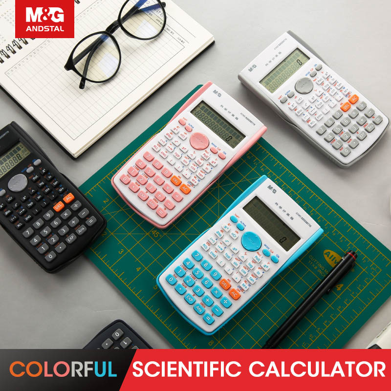 M&G 82MS Color Calculator Scientific Calculater Financial Calculator pink white science for office school students exam Andstal image