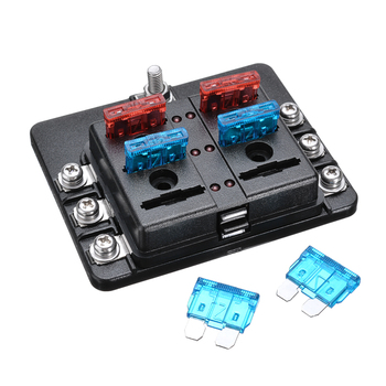 universal automotive fuse box mega deals po5kl 6 way 12v 24v car circuit auto cut blade fuse  12v 24v car circuit auto cut blade fuse