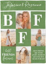 Personalized Blanket with Photo and Text for BFF Sisters Customized Gifts for Birthday Blanket Custom Throw Blanket with Photo