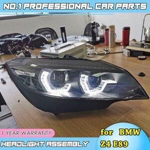 Image 2 - Faros led para coche BMW, faros delanteros LED para coche BMW Z4 E89 2006 2018, ojos angulares led drl H7 hid, lente bi xenón, haz bajo