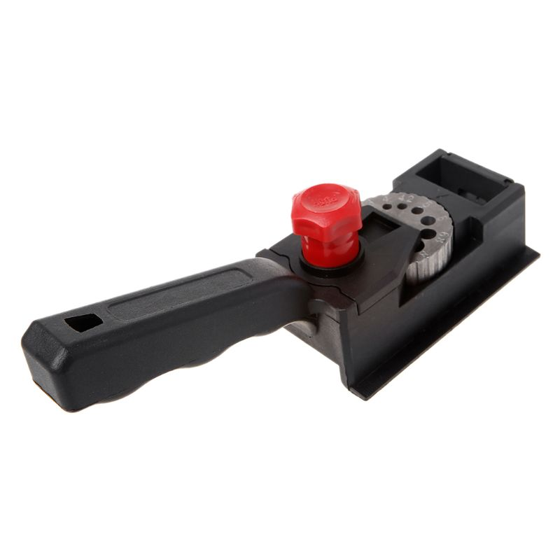 Punch Locator 10 Holes Woodworking Punching Positioning Fixture Device DIY 3mm-12mm Bit Limit Ring With Scale Ruler