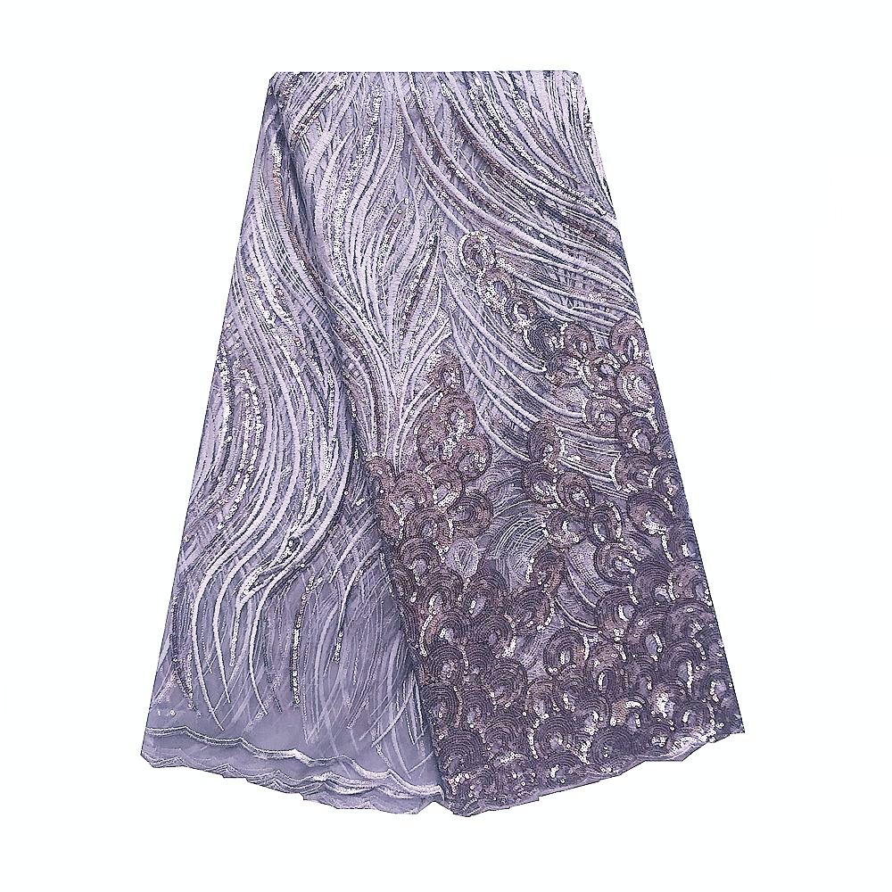 Beautiful African Sequence Lace Fabric Wine Tulle Nigeria Lace Fabric Purple Sequin French Swiss Lace Dubai Fabric For Wedding in Lace from Home Garden