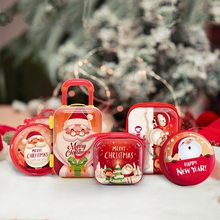 Christmas Mini Bag Cartoon Santa Claus Pendant Coin Purse Cute Children Kids Girls Wallet Earphone Organizer Box Christmas Gift(China)