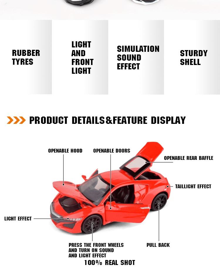 Acura NSX Diecast Model Car 9
