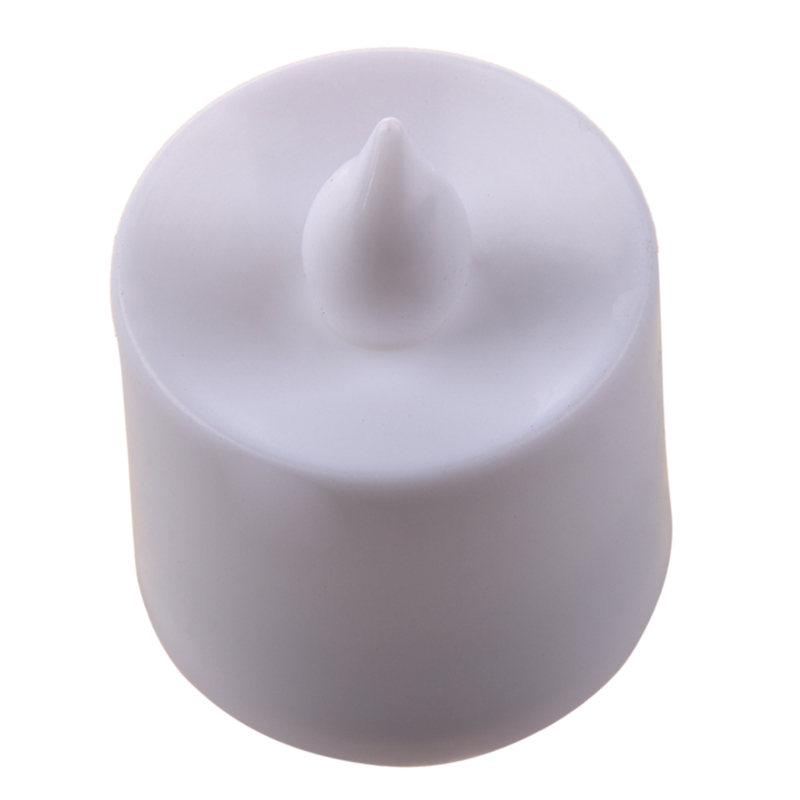 1P LED 5 Color Flash Flicker Flameless Battery Electronic Candle Tea Light White|  - title=