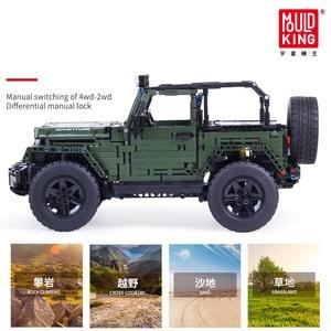Mould König Technik Series RC Jeeps Abenteuer Off-road fahrzeug Modell Baustein Ziegel Kinder Pädagogisches Spielzeug Weihnachten Geschenke