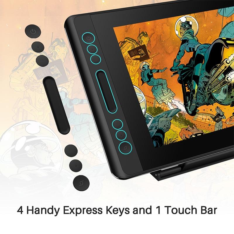 Image 5 - Huion kamvas pro 12 pacote de presente de natal caneta tablet monitor de arte gráficos desenho caneta display monitor de inclinação 60 bateria livre emrTablets digitais   -