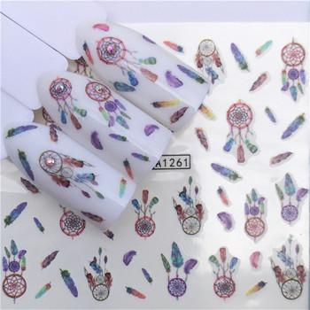 1 sztuk paznokci naklejki zwierząt woda naklejka Ocean kot wzór w rośliny 3D Manicure naklejki zdobienie paznokci dekoracje m1N4 tanie i dobre opinie Jedna jednostka CN (pochodzenie) Naklejka naklejka
