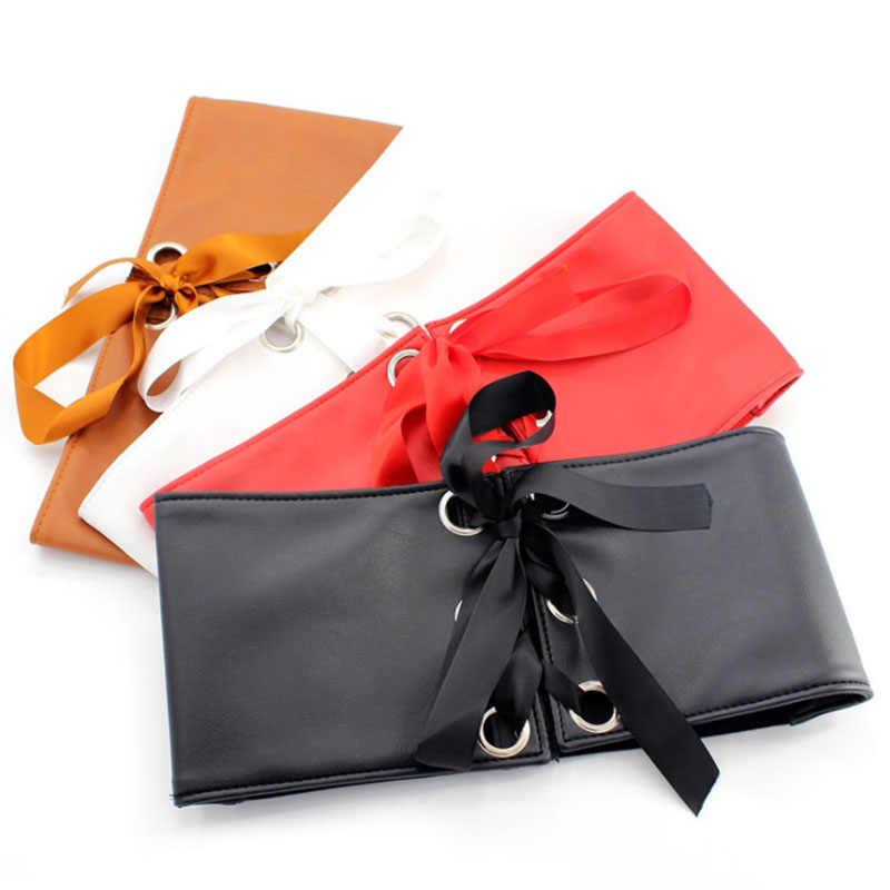 Inadice جديد اللباس اكسسوارات مطاطا حزام السيدات الزخرفية واسعة حزام الأزياء الاتجاه حزام للنساء