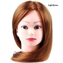 Manequim cabeça estilo de cabelo formação cabeça manequim cosmetologia boneca cabeça reta fibra sintética cabeleireiro formação modo