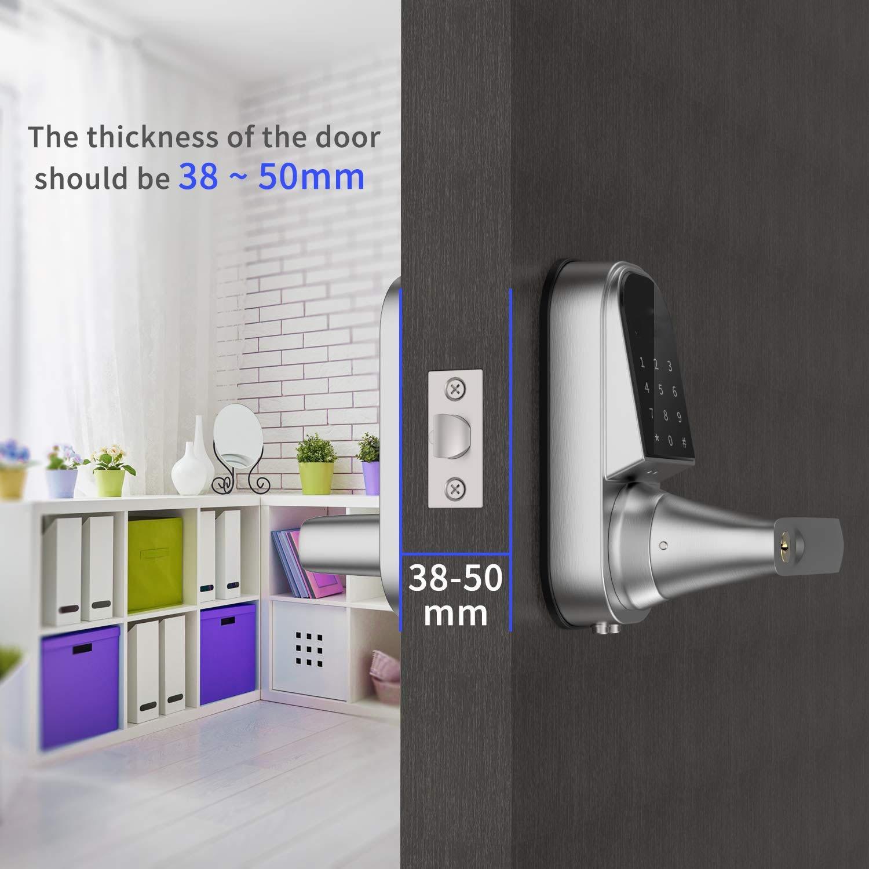 Image 2 - Smart Lock Keyless Entry Door Lock Electronic Front Door Lock APP Control Bluetooth Mechanical Keys Home touch screen lock