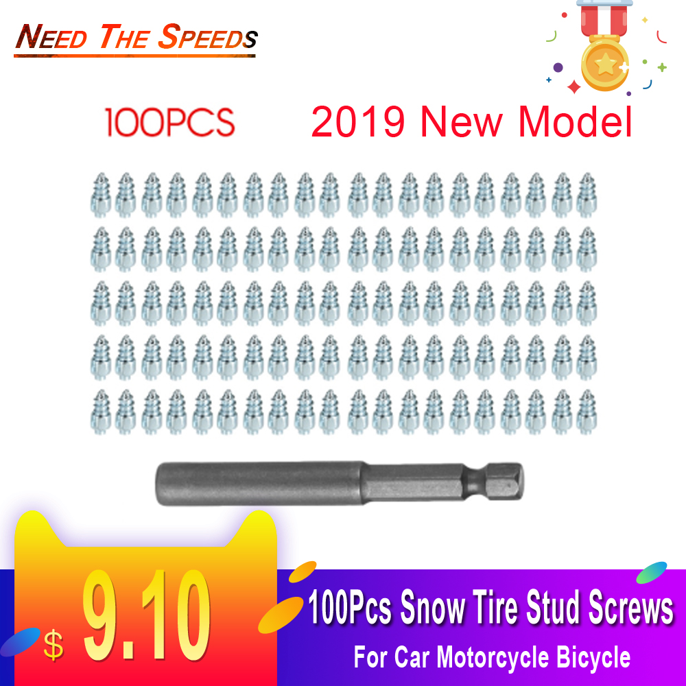2019 New Model Snow Screw Tire Studs Anti Skid Falling Spikes Wheel Tyres 100PCs For Car Motorcycle Bicycle For Bmw Ford   Audi