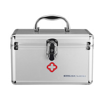 GOLDLOnSEn B016 5 Small Medical Kit 9 Inch Aluminium Alloy Lock Household Portable Hand Medical Medicine Box Manufacturers Curre