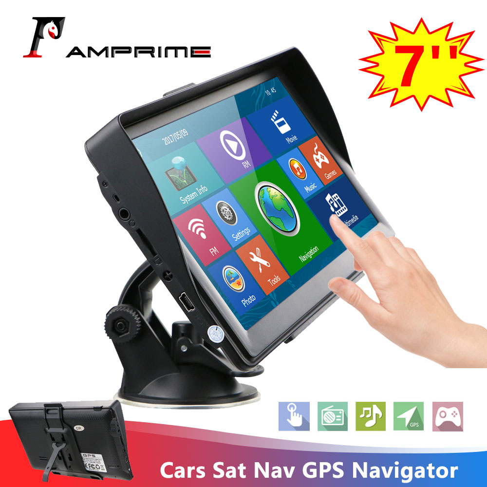 "8GB 7/"" Car Truck GPS Navigation Navigator LCD Touch Screen SAT Nav w//US Free Map"