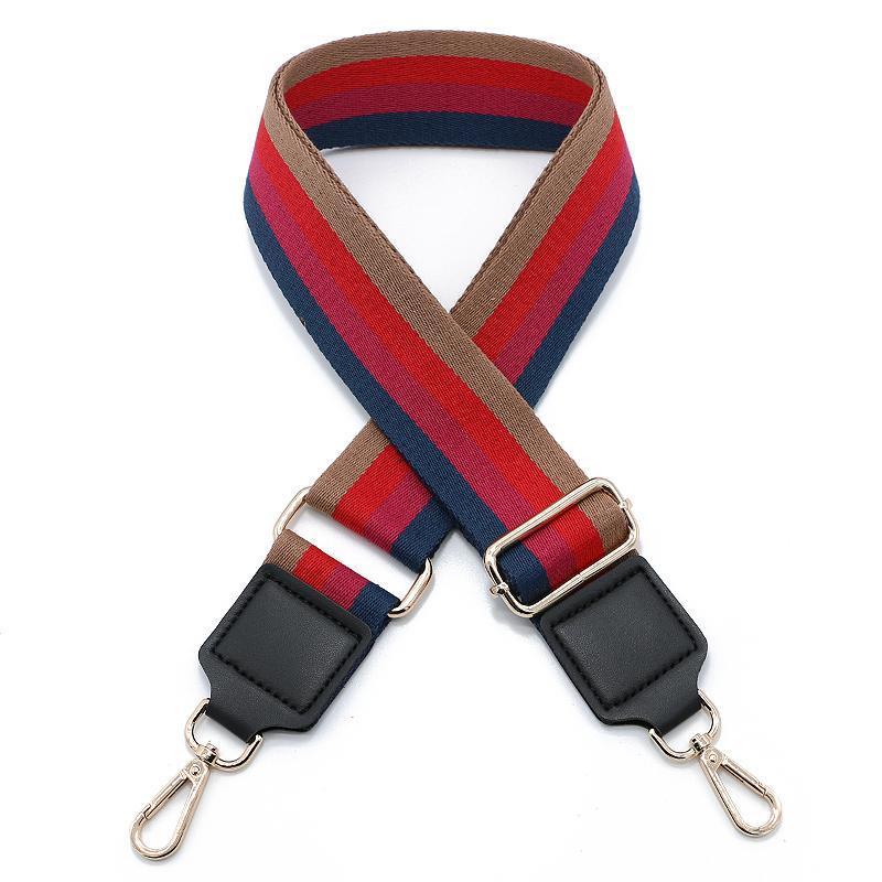 New women's bag strap belt  one shoulder slant straddle bag nylon adjustable length strap wide 5cm  Length 130cm