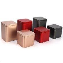 Xin Jia Yi упаковка пищевая Жестяная Банка черная металлическая квадратная коробка алюминиевая жестяная коробка для чая