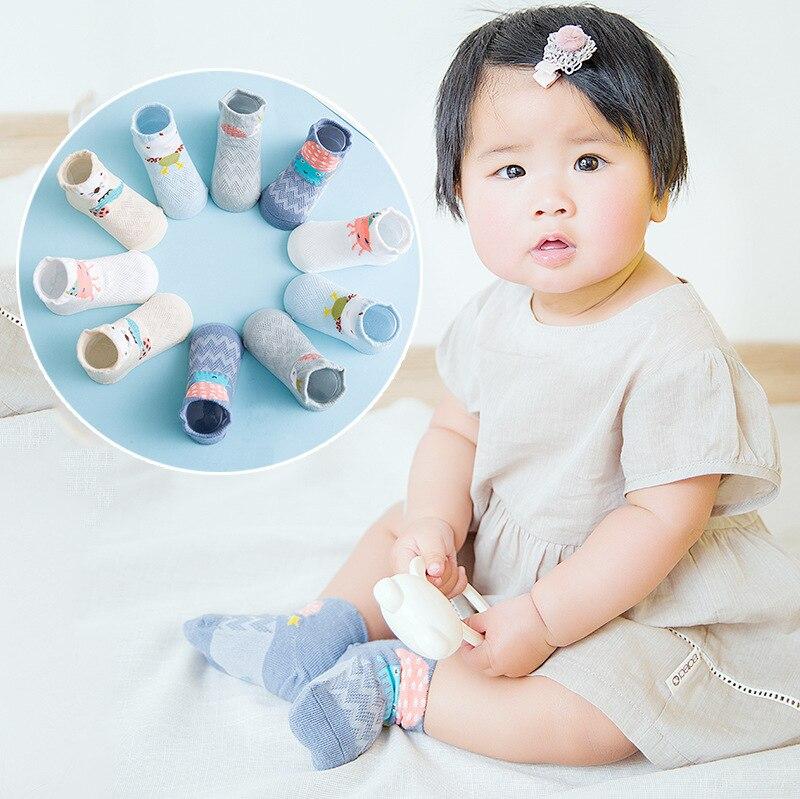 Small Alpaca Spring And Summer New Style Babies' Socks Cotton Mesh Boat Socks Cute Children's Socks Cartoon Stereo Baby Socks