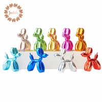 Hot!!! Newly Produced American Pop Art Resin Craft Balloon Dog Figurine Statue 25/17cm Balloon Dog Balloon Rabbit Xmas Gift