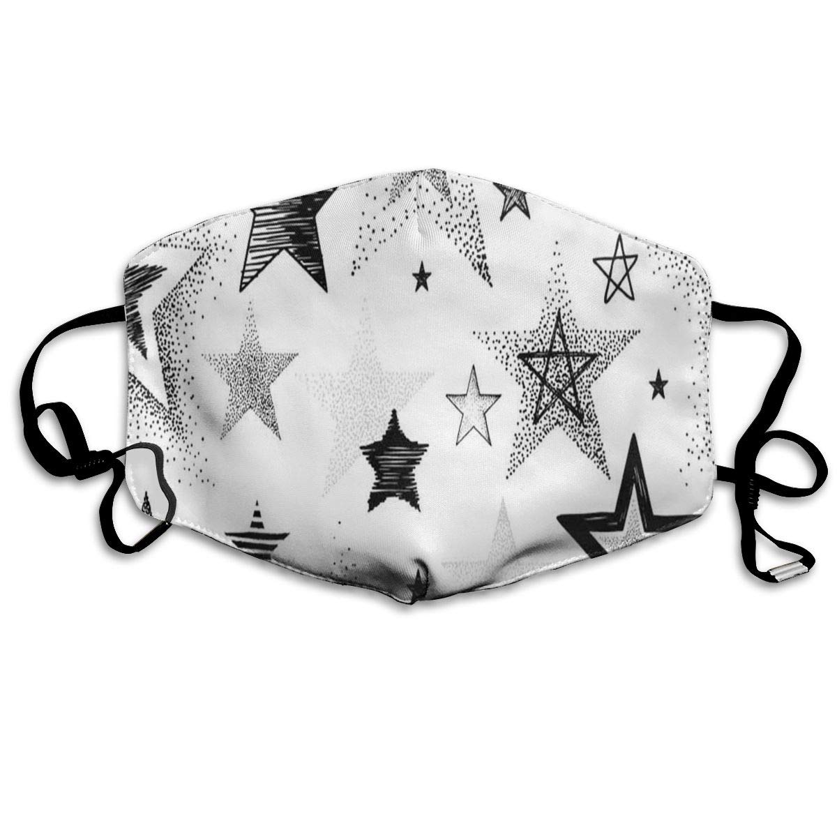 Customized Mask Reusable Anti Dust Face Mouth Cover Hand-Drawn Star Abstraction Mask Warm Windproof