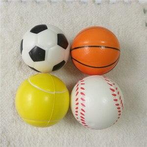 Image 2 - 12 stücke Kinder Weiche Fußball Basketball Baseball Tennis Spielzeug Schaum Gummi squeeze Bälle Anti Stress Spielzeug Bälle Fußball 6,3 cm