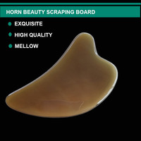 Natural Ox Horn Gua Sha Board Scraper Face Massagers Health Care Beauty Facial Massager for Face Body Neck Back Massage Tools 4