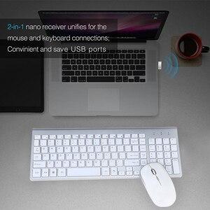 Image 5 - SeenDa 2,4G Беспроводная Бесшумная клавиатура и мышь Мини Мультимедиа полноразмерная клавиатура мышь комбо набор для ноутбука настольного ПК