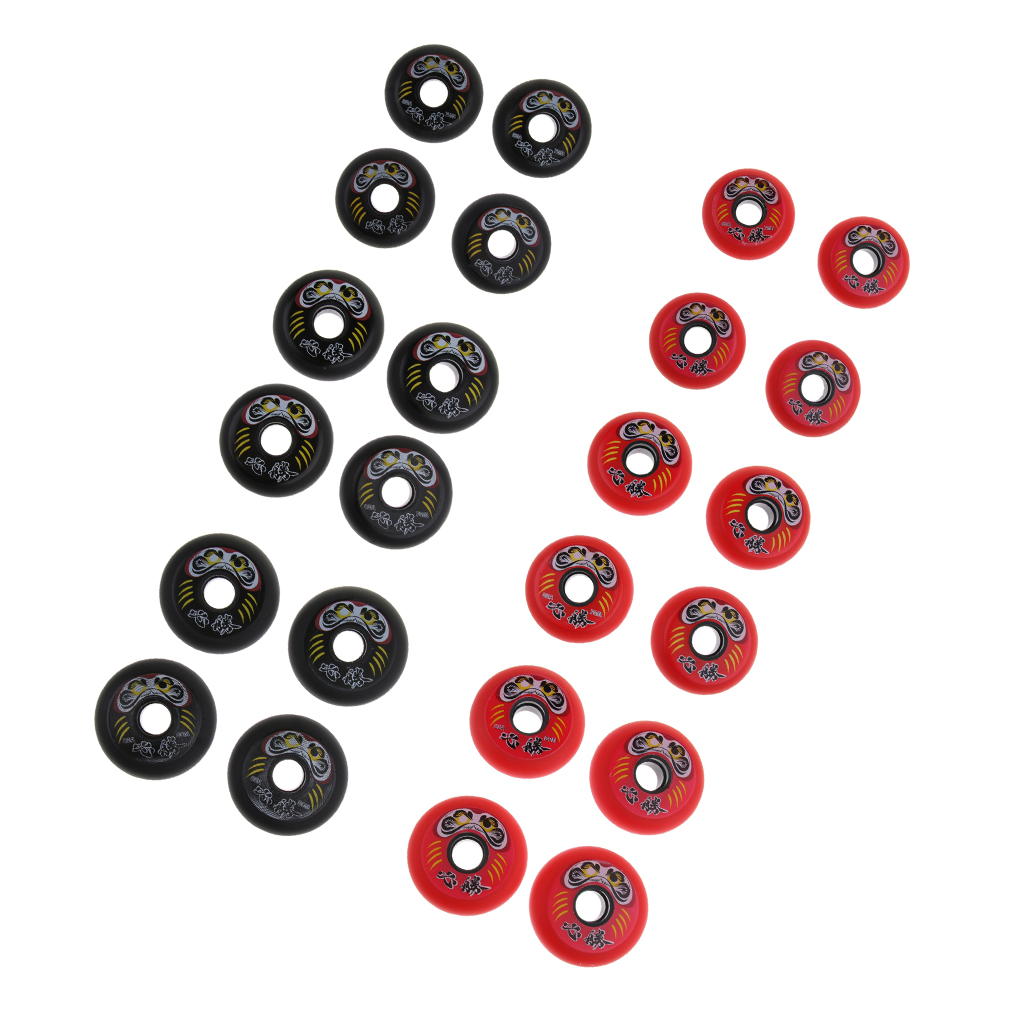 4Pcs Professional Inline Roller Hockey Fitness Printing Skate Wheels 85A High Elasticity Premium Parts Replacement Accessories